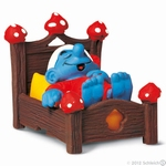 Schleich 40240 Smurf in bed
